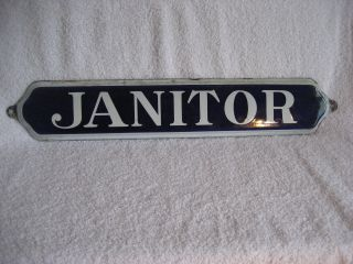 Vintage Blue/white Porcelain Sign - -