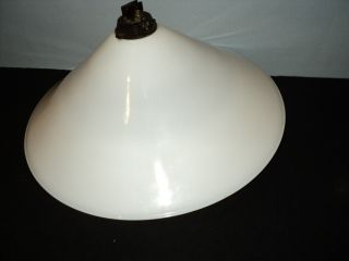 Vintage White Enamel Industrial Lamp Shade.  Barn Find. photo