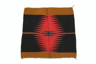 Vintage Truly Old Small Navajo Blanket In Striking Colors,  Eye Dazzling Design photo
