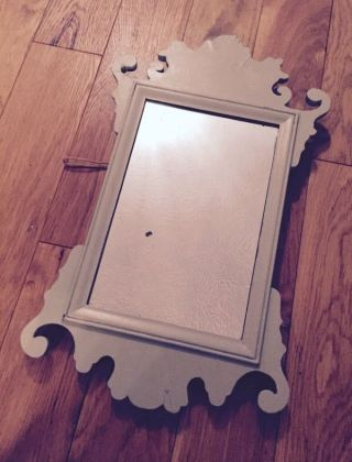 Antique Victorian Wood Frame Painted Mirror photo