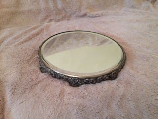 Vintage Vanity Mirror Stand/tray photo