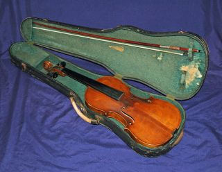 Antique Violin 4/4 Labeled Joh.  Bapt.  Schweitzer Amati Pestini 1813 Germany photo
