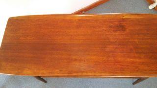 Bassett Mid Century Modern Walnut Sofa Table Console All photo