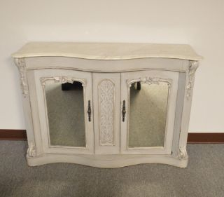Antique Victorian Style Marble Top Accent Cabinet photo