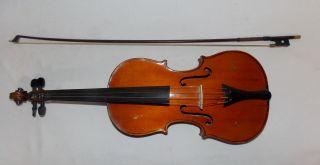 Antique Ludwig Koschat 1911 Stradivarius Copy Violin W Bow 4/4 photo