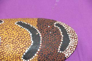Australian Aboriginal Large Coolamon Wooden Bowl Ochres photo