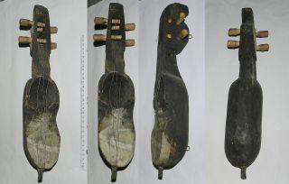 Nepal : Old Wooden Sarangi (traditional Folk Violin) - Scarce photo