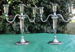 Vintage Godinger Silverplate Three Arm Candle Stick Holder Candelabra 12
