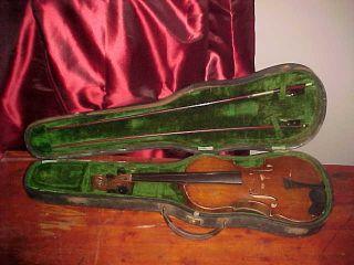 Antique Italian Carlo Tononi Violin W/original Label A Restorers Dream As/is photo