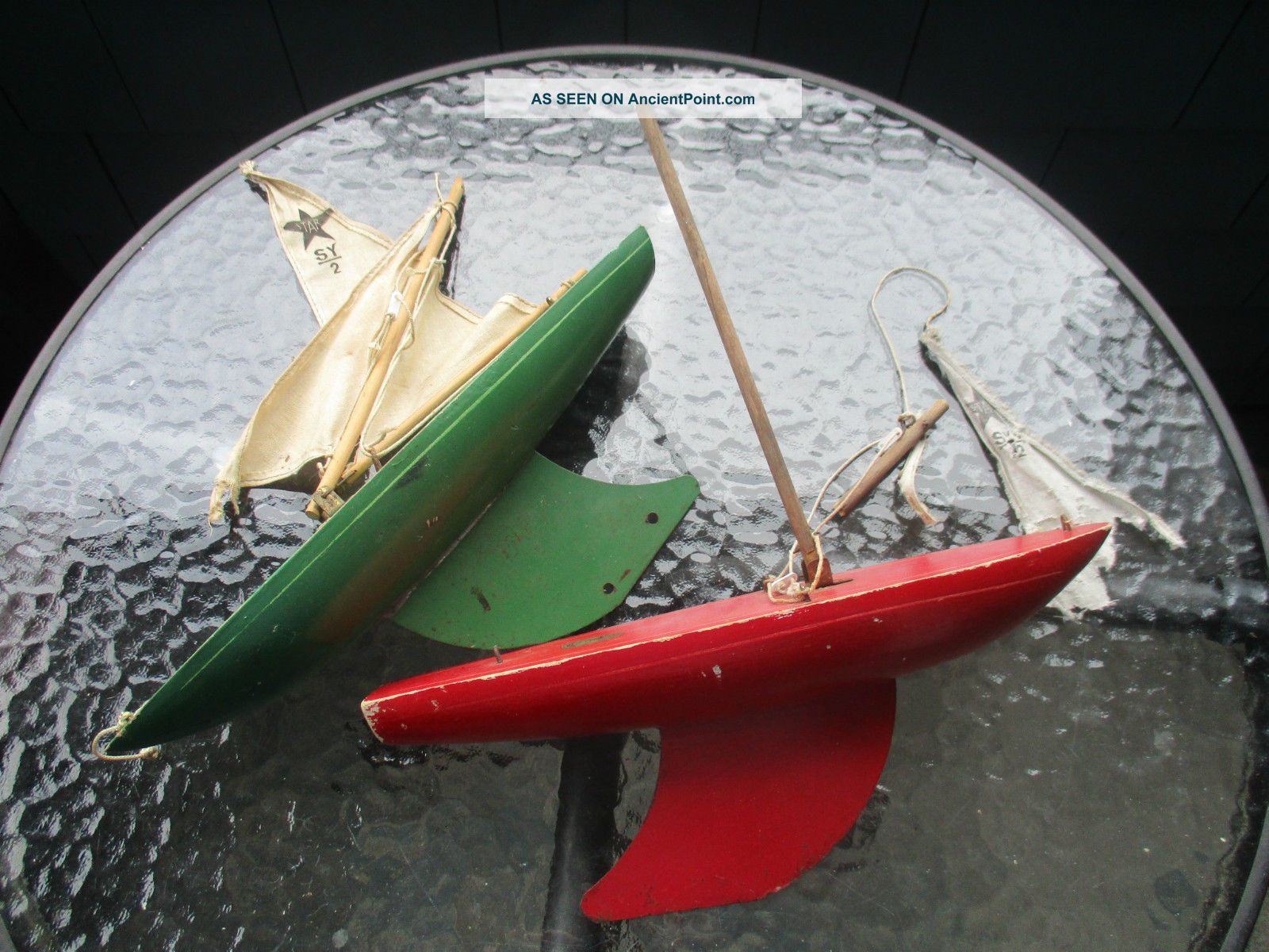 2 Star Yacht Birkenhead Wooden Pond Boats For Restoration England 12 Inch Sy/2 Model Ships photo