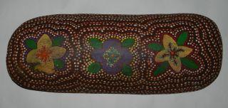 Australian Aboriginal : Dot Painted Coolamon - Central Australia photo