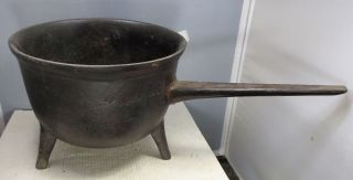Cast Iron Footed Pot With Handle photo
