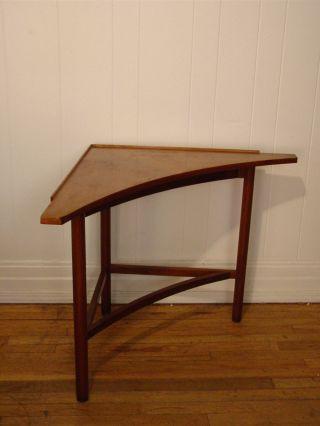 Vintage 1950s Dunbar Corner Table Edward Wormley Mid - Century Modern photo