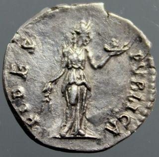 Top Hadrian,  Silver Denarius,  Fides,  Goddess Of Trust,  Honesty,  Rome,  134 - 138 Ad photo