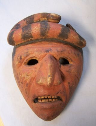 Vintage American Indian Cherokee Booger Mask Snake Top C1930 Allen Long Quality photo