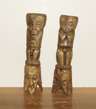 And Old Mid 20th Century Statues - Couple - From Tanzania photo