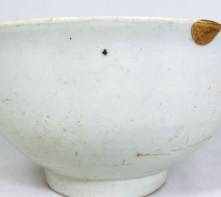 H676: Real Korean Rhee - Dynasty Pottery Ware Tea Bowl With Great Golden Repair. photo