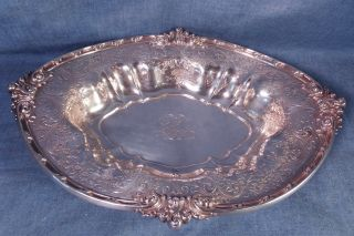 Antique Victorian Gorham Sterling Silver Oval Bowl 12 1/2