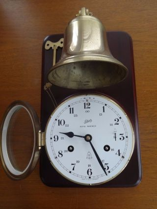 Schatz Royal Mariner Ships Brass Bell Clock West Germany photo