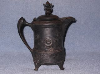 Middletown Plate Antique Silver Plate Etched Footed Tea/coffee Pot 929 photo