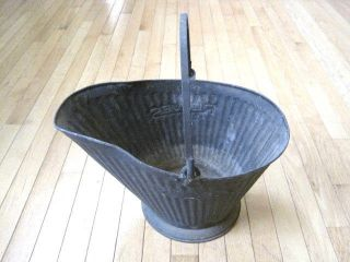 Vintage Reeves Coal Hod Bucket 17 With Handle photo