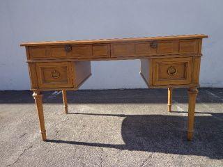 Leather Top Writing Desk Drexel Esperanto Vintage Regency Mid Century Modern Mcm photo
