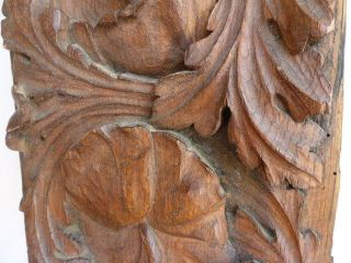 Antique Carved Decorative Oak Panel photo