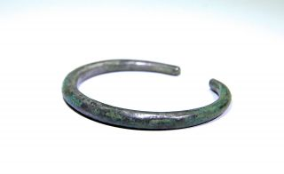 Ancient Celtic Iron Age Silver Bracelet 300 - 100 Bc photo