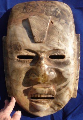 Stone Mask: Massive,  Yucatan,  Mid - 19th Century Find photo