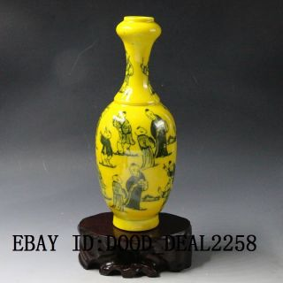 Chinese Hand - Painted Children Play Porcelain Vase W Qing Dynasty Qianlong Mark photo