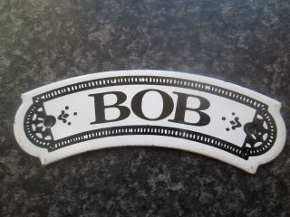 Vintage Dodo Designs (mfrs) Porcelain Enamel Name Plate - Bob photo