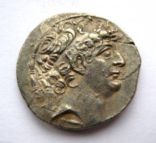 Circa.  121 B.  C Ancient Greece - Seleukid - Philip I Silver Tetra - Drachma Coin photo