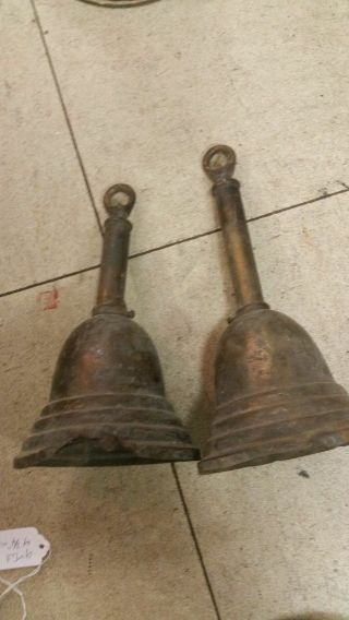 2 Matching Hanging Brass Light Fixture Lamp Parts 4 3/4