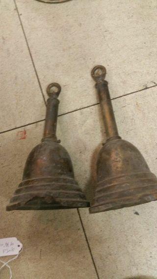 2 Matching Hanging Brass Light Fixture Lamp Parts 4 3/4