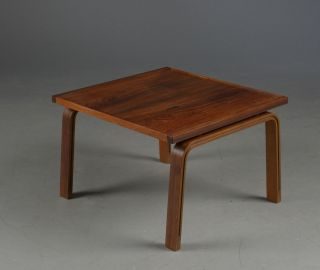 Arne Jacobsen Rosewood Side Table photo