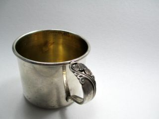 Antique International Sterling Spring Glory Baby Cup K76 - 4 Sanitary Edge photo