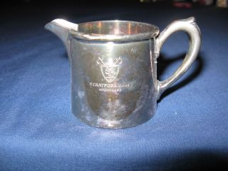 Vintage R Wallace 2 Oz Silver Soldered Ind Creamer Stratford Arms Milwaukee photo