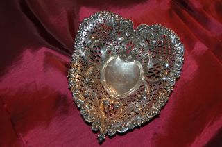 Gorham Chantilly Sterling Silver Heart Tray Or Bowl photo
