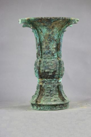 Old China Bronze He Zun (ritual Wine Vessel),  Zhou Dynasty Bronze Wine Vessel 54 photo
