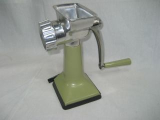 Vintage Rival Grind - O - Matic Meat Grinder Food Chopper 303 Avocado Green photo