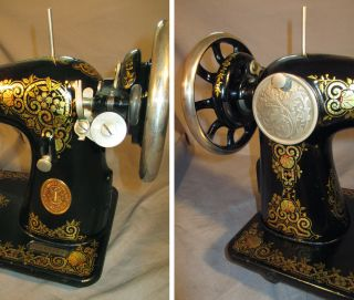Serviced Antique 1924 Singer 15 - 30 Tiffany Treadle Sewing Machine C - Video photo