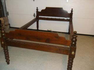 Antique Rope Bed,  Double,  Mahogany 53