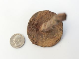 Ancient Roman Iron Crucifixion Nail - Wow Size Of Head 2 3/8