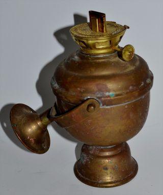 Perko Gimbal Brass Oil Lamp Lantern Ship Boat Nautical Wall Mount 7 1/4