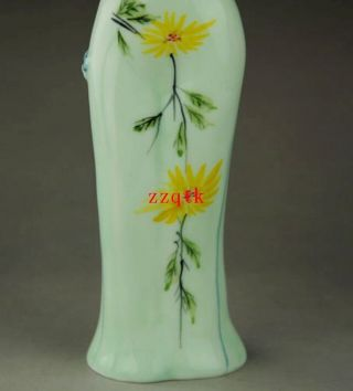 Chinese Blue And White Porcelain Cheongsam Figure Paintings Vase photo