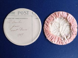 Very Dear 1909 Hand Made Painted Needle Case photo