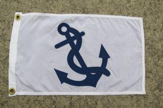 12 X 19 Canvas Flag Yacht Club Sailboat Ship Boat Signal (876) photo
