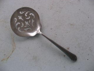 Gorham Slotted Tomato Serving Spoon Pat.  1937 Silverware Serving Piece No Mono photo