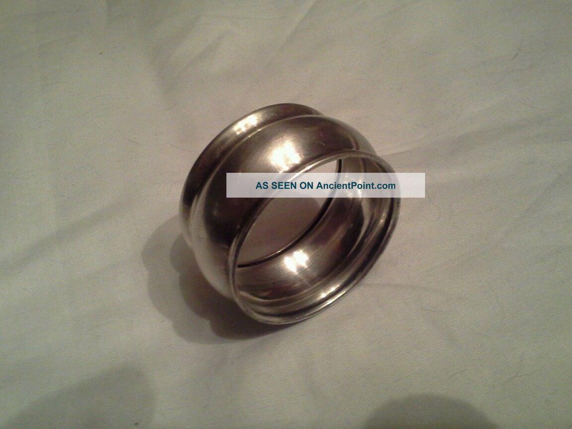 Vintage Sterling Silver Napkin Ring Engraved
