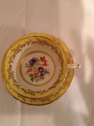 Vintage Paragon Bone China Tea Cup Saucer Yellow/gold Floral photo